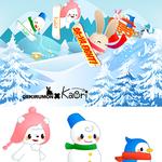 アプリゲーム「Chamaru border」 キャラクター3点制作
