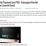 Mobile Payment am POS – Secupays Viertel-Dollar Launch-Event