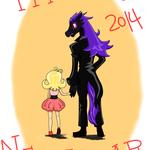 2013年12月に描いた2014年正月のはがきイラスト