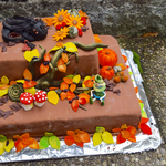 Geburtstagstorte im Herbstlook für meine Schwester ( Auch Ohnezahn durfte mitspielen) ;-)
