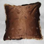 Kissen Rückseite :Kanin farbig,geschoren
