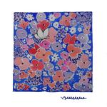 tissu fleurs TFP009 aquarelle originale 75 € -30x30 cm