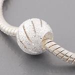 """""""Stardust"""", Perle veredelt mit 925 Sterling Silber, versilbert, 9 x 10 mm, Loch 4,5 mm"""