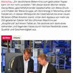 Festredner Marc Hauser bei Weiss Gruppe Monschau, Ganzer Artikel: http://www.wochenspiegellive.de/eifel/altkreis-monschau/monschau/artikel/mit-neuer-maschine-fuer-die-zukunft-geruestet-48646/