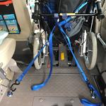 リクライニング車椅子 固定状態