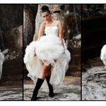Vestido de novia Alejandra de coss con look moderno