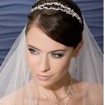 Peinado de novia con diadema