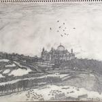 アーグラ城から見た景色 / From Agra castle.