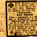 Traueranzeige 1943