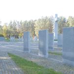 die Schriftstelen mit den Namen der Toten in Riga Beberbeki