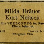 Verlobungsanzeige 1925