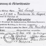 Nun geht es in Waren weiter. Ab dem Sommer 1946 darf Karl Friedrich Neinaß wieder Lehrlinge in der Gärtnerei Steindorf ausbilden.