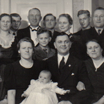 Zur Taufe von Edeltraud Neitsch zu Ostern 1939.