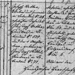 Taufe Josef Vetter 1843 in Lobendau