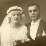 Hochzeit von Milda Bräuer und Karl Kurt Neitsch am 25.09.1927 in Grimma.