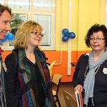 Begrüßung der französischen Gäste (li.) durch Schulleiterin Frau Brochhagen-Klein (re.)