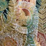 Farne III  - Das Farnblatt entrollt sich zögerlich zu seiner vollen Größe, grünt, lebt auf in seiner Frische, wird in der Sonne durchscheinend weiß um dann den Weg ins verhaltene Rotbraun und Ocker zu finden.