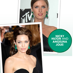 Анжелина Джоли и Никки Хилтон в сережках Кеннет Джей Лейн