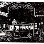 YHG007 由布院駅とスカーボロのある夕影