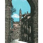 聖ジョセッペ門とシエナ市街を見る
