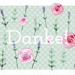 Rosen und Lavendel Muster