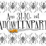 Einladung Halloweenparty
