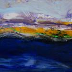 304 Im Sturm, Acryl auf Leinwand, Elsa von Blanc, 75 x 115 cm