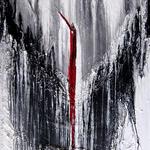 242 Rote Quelle, Acryl auf Leinwand, Elsa von Blanc, 90 x 60 cm