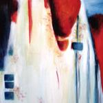 331 Hommage an Kaminski 2, Acryl auf Leinwand, Elsa von Blanc, 100 x 50 cm