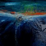 302 Polarlicht, Acryl auf Leinwand, Elsa von Blanc, 80 x 120 cm