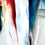 332 Hommage an Kaminski 3, Acryl auf Leinwand, Elsa von Blanc, 100 x 50 cm