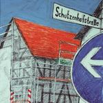 330 War Christo hier?, Fineliner Marker und Filzstifte auf Papier, Rahim Aziz, 42 x 30 cm