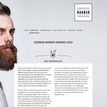 Webseite German Barber Awards