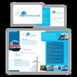 Entwicklung von Corporate Design mit Broschüre, Dilba Kunststoffbau