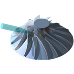 Turbinenrad (CAD/CAM, Simulation, 3D-Koordinatenvermessung)