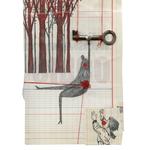 Salto al vacío, 2013. 21 x 14,5 cm. Técnica mixta sobre papel.
