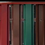 Заборы из металлического штакетника в Климовске