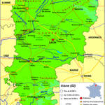 Aisne (02) Coingt ligt bovenaan bij Vervins