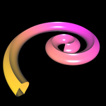 Supershape auf Basis Torus - spiralförmig 1