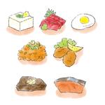 タンパク質のイラスト