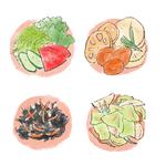 野菜のおかずのイラスト