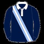 """Rugbyhemd """"Drei diagonale Streifen"""""""