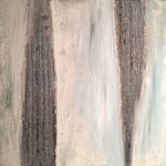 Ohne Titel, Acryl, Strukturmasse, 40 x 40 x 2 cm