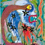 Chimère pour Mireille. Acrylique sur toile. 45 X 80 cm