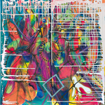 Pour Roger de Niozelles. Acrylique sur toile. 100 X 100 cm