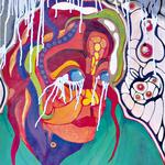 La fille qui pleure du lait. Acrylique sur toile. 40X80 cm