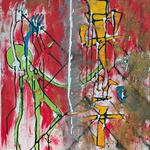 Générations. Acrylique sur toile. 40X80 cm