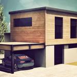 carport aluminium-bois adossé