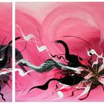 Blütezeit, 160 x 80 cm, Acryl auf Leinwand - Verkauft