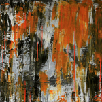 Orange Wall, 50 x 50 cm, Acryl auf Leinwand